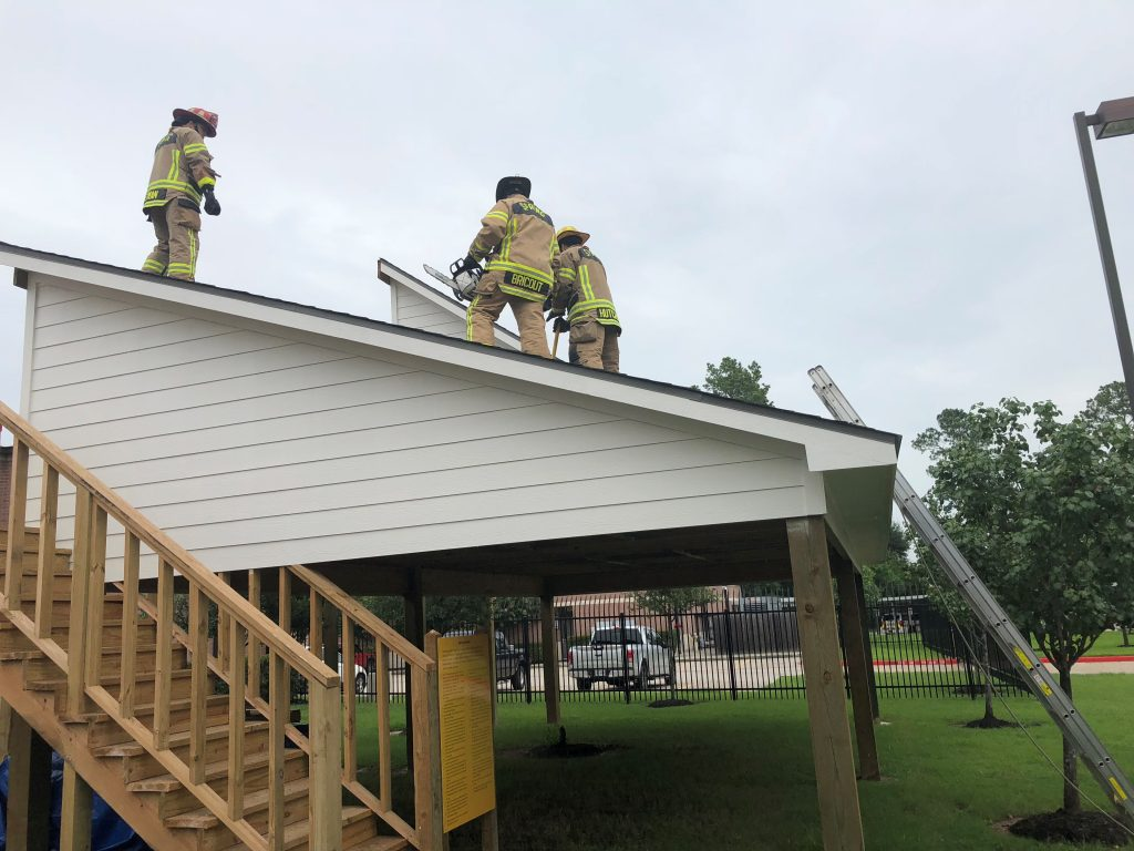 Rooftop Training Spring Fire Department