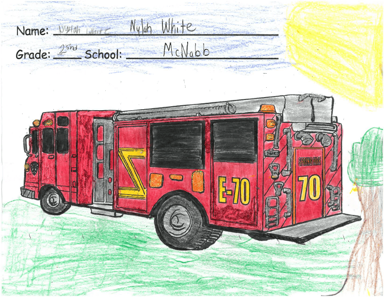 Spring Fire Department Announces Winners of Fire Prevention Week Student Contests