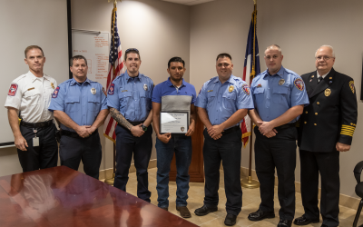 Jose Elias Ortega Receives Civilian Life Saving Award