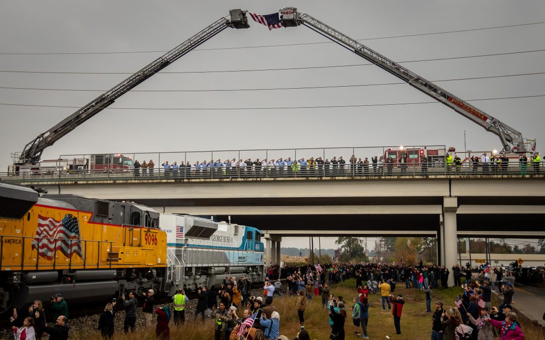 Spring Fire Department Honors President George H. W. Bush