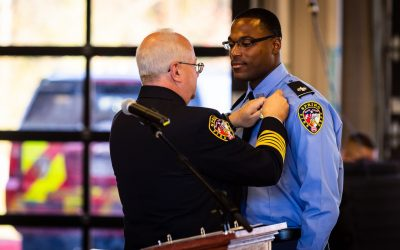 Badge Pinning Ceremony