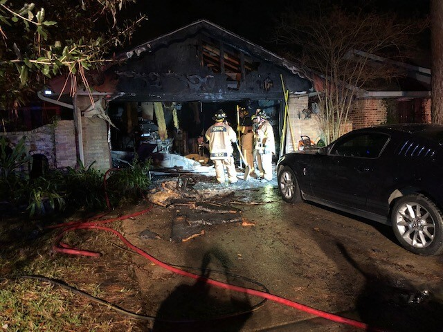 Fireworks Spark New Year's Day Garage Fire