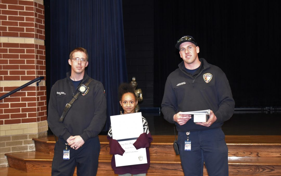 Winner of the Fire Prevention Coloring Contest