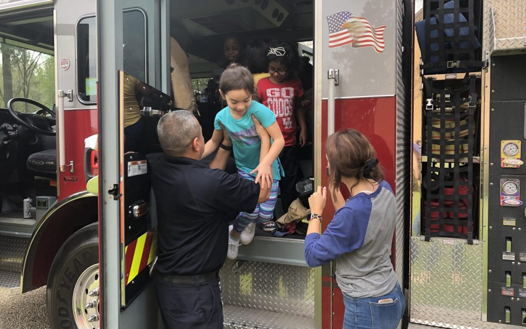 SHSU Charter School Learns Fire Safety from Spring Firefighters