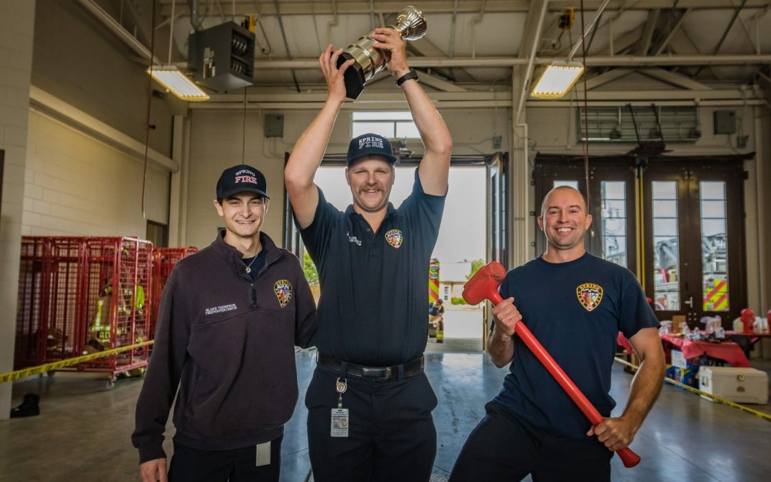 Spring Firefighters Challenge Each Other in Inaugural Competition