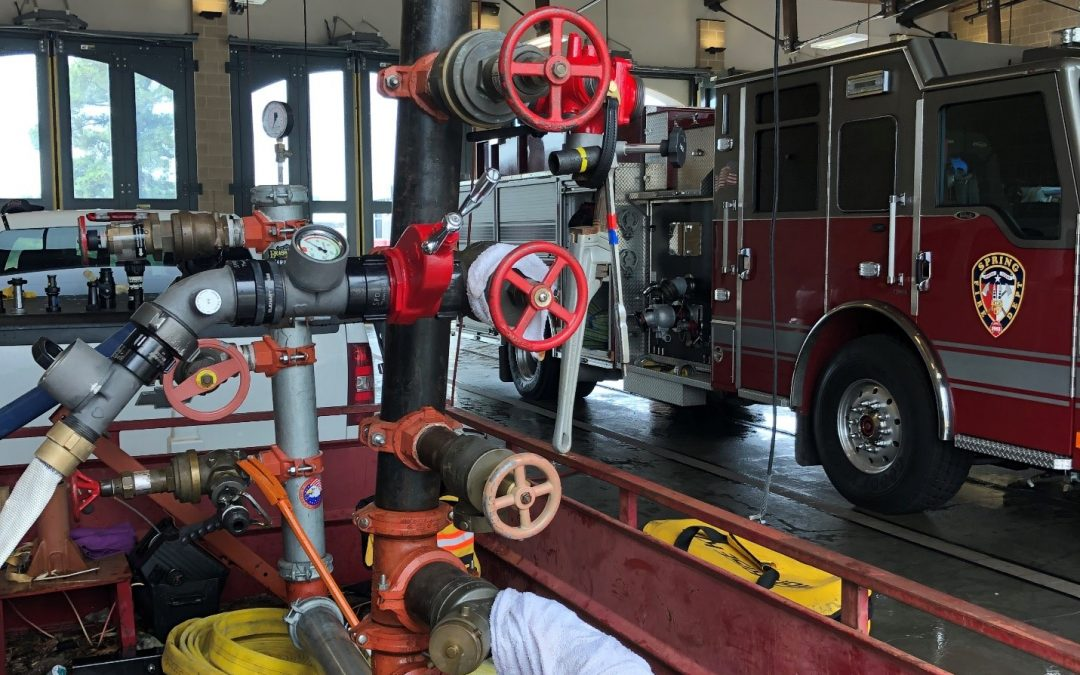 Spring Firefighters Get Advanced Training in Standpipes