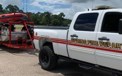 Spring Fire Department Gets Wet during Hurricane Season